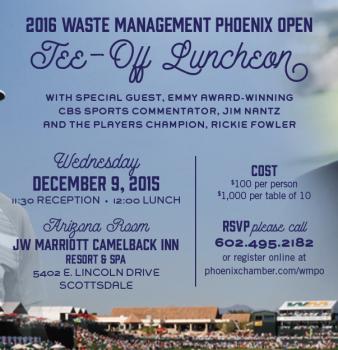 Jim Nantz, Rickie Fowler to headline Waste Management Phoenix Open Tee-off Luncheon at Camelback Inn on Wednesday, December 9