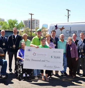 Circle The City Celebrates New Transportation Van Funded By Thunderbirds Charities