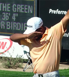 Harold Varner III Dabbing After Birdie At 16th Hole