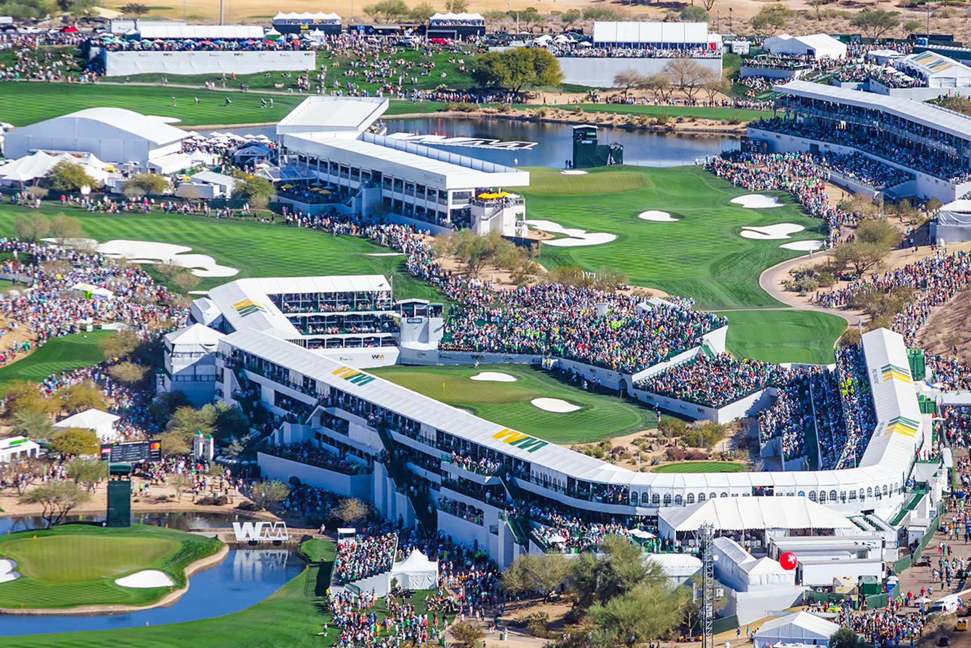 The 16th hole at TPC Scottsdale